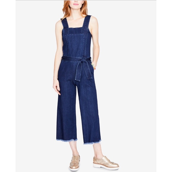 147b2268d833 Rachel Roy Cotton Cropped Denim Jumpsuit Size 6